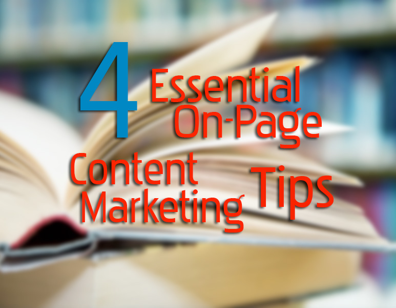 4-essential-on-page-content-marketing-tips featured image