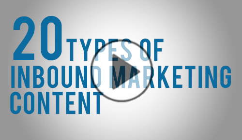 watch 20 types inbound marketing content